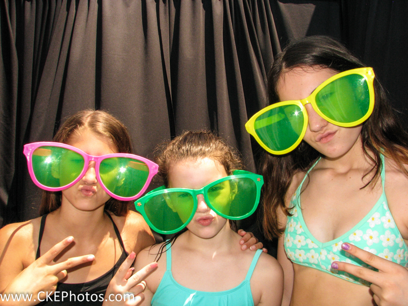 Girls in costume's provided by Curtis Knight Entertainment celebrate a friends birthday in the CKE Photobooth in Billerica, MA