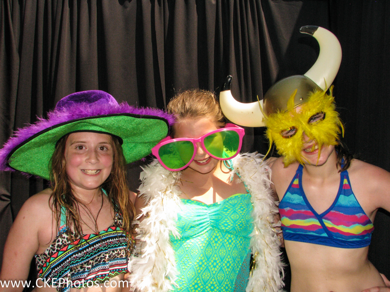 Friends taking silly dress up pics at Alicia's birthday party in the Photobooth provided by Curtis Knight Entertainment in Billerica, MA