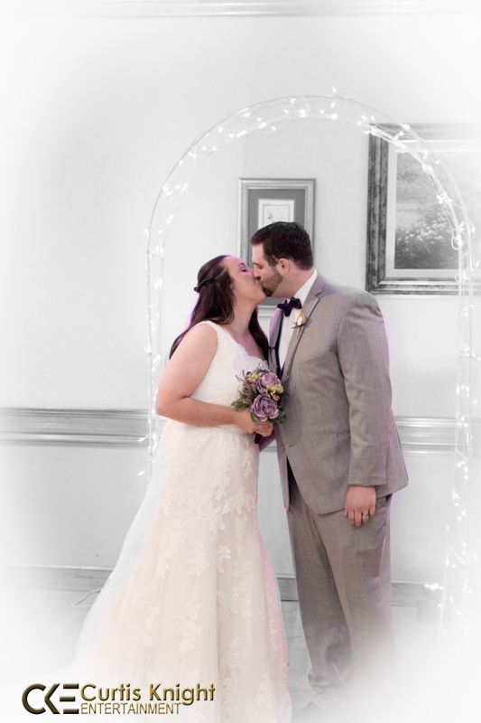 Derek and Marissa Diehsner take their first kiss as a married couple!