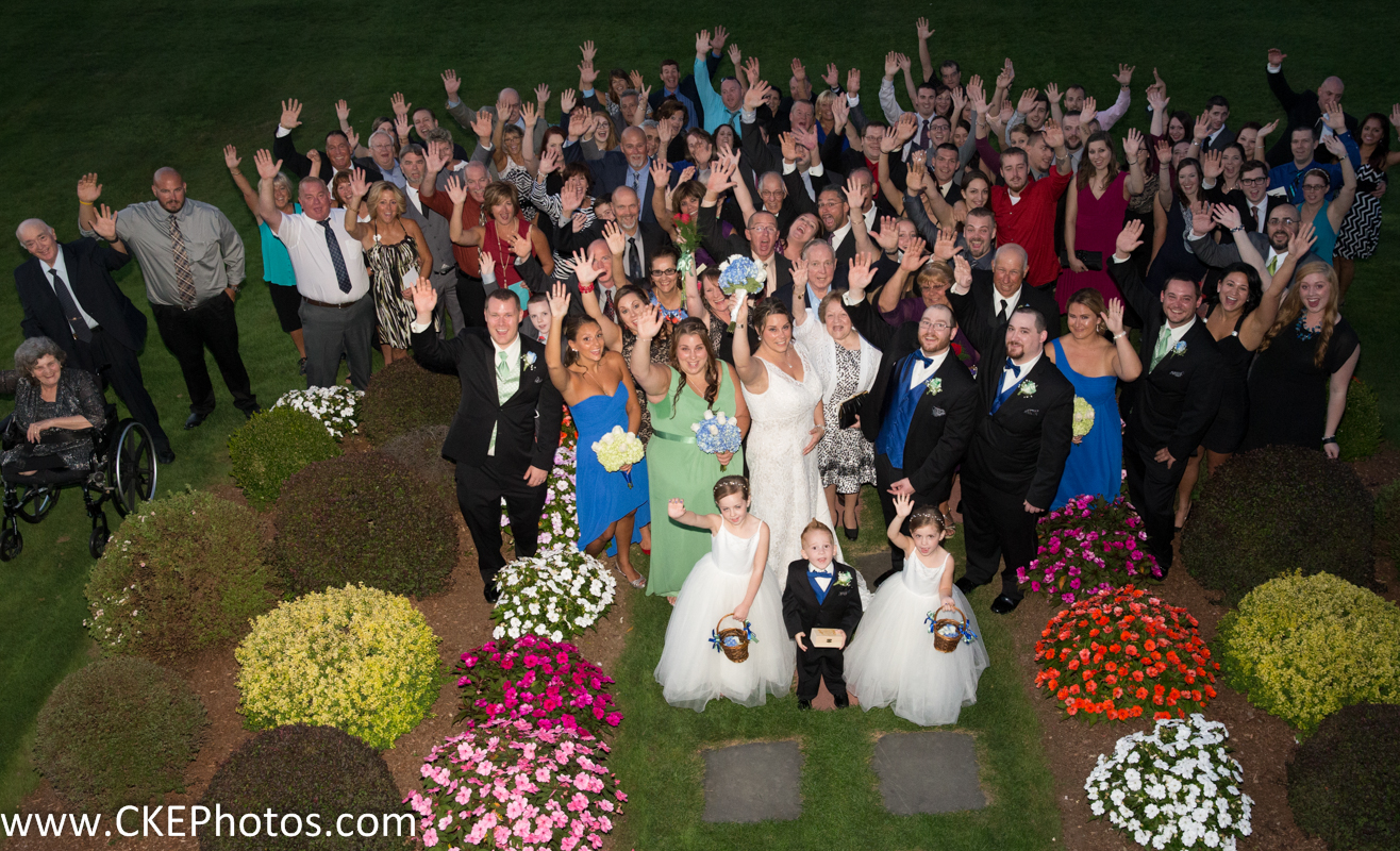 Kristen and Chris Kraus join their family and friends in celebrating their new marriage!
