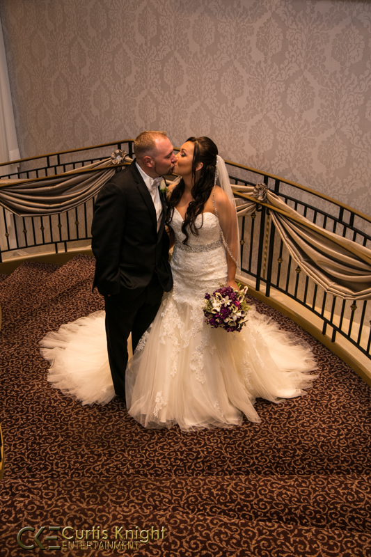 Amanda and Mark Boland kiss as an ecstatic husband and wife!