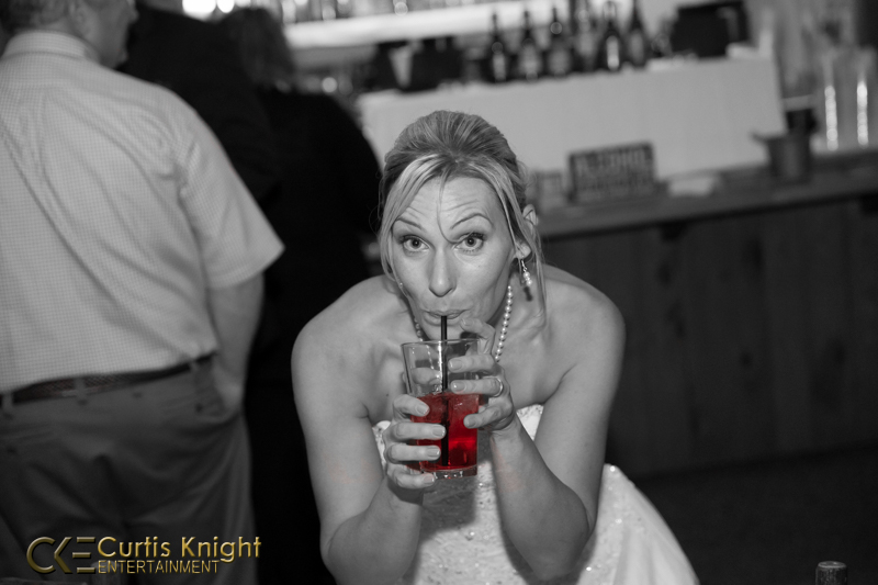 CKE captures Danielle Duby as she enjoys a drink at her reception!