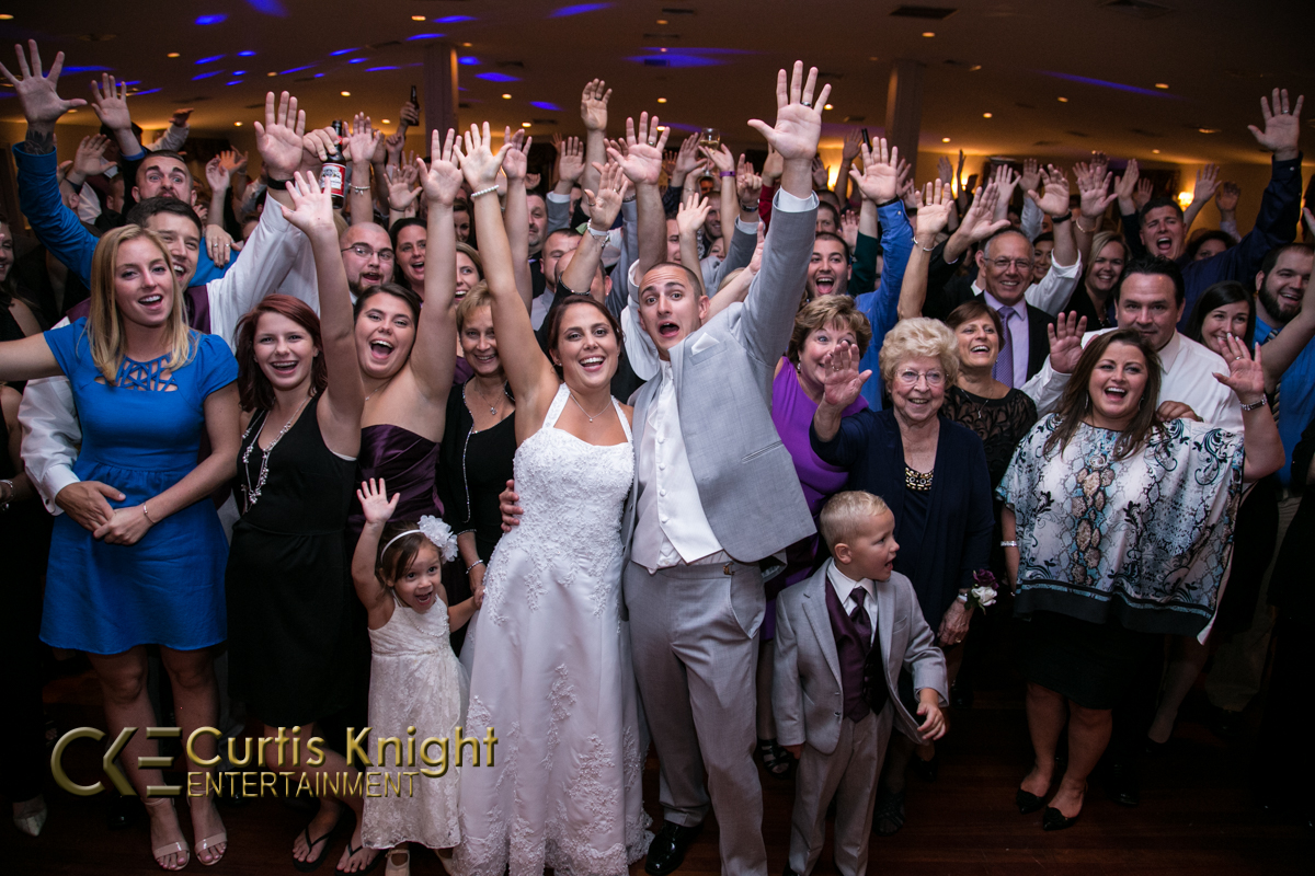 The reception for the McLaughlin's wedding was energized and loads of fun!
