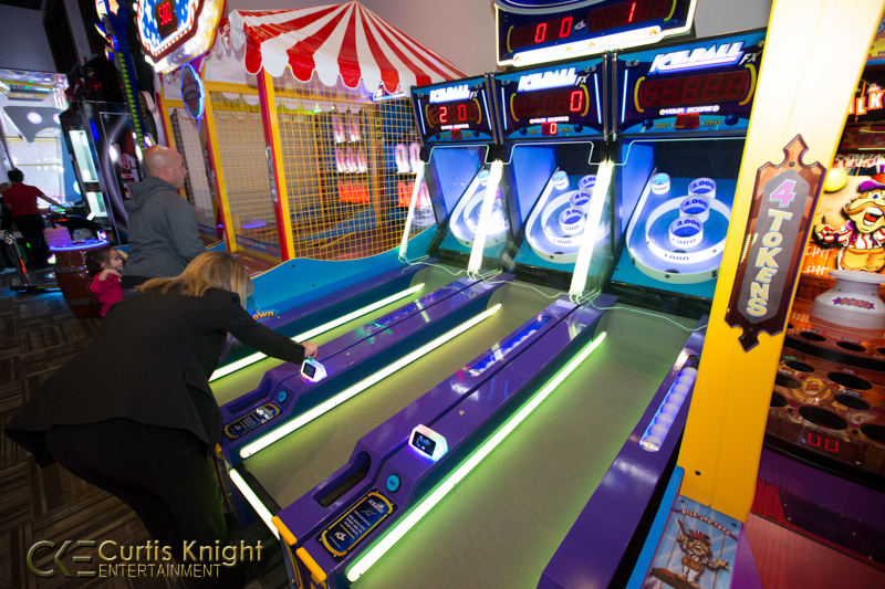 CKE captures the luminescent glow of the action-packed arcade!