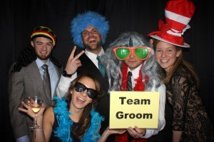 A packed Photo Booth at Derek and Cassandra's Wedding!