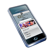 Picture of cell phone used as an Icon to allow for direct dialing from website.