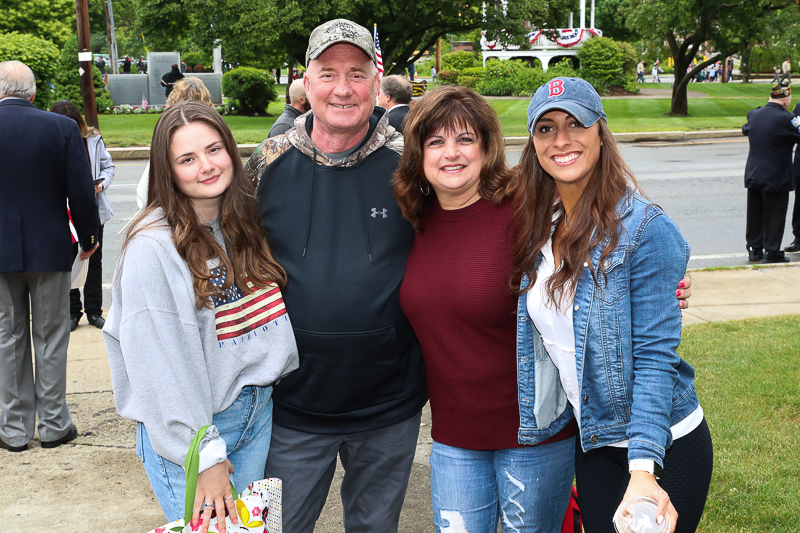 Town of Billerica Memorial Day Celebration. Family of young lady who did an outstanding job singing the national anthem.