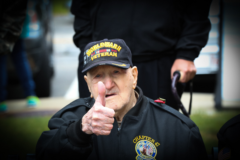 Town of Billerica Memorial Day Celebration. This hero will be 100 on his next birthday.